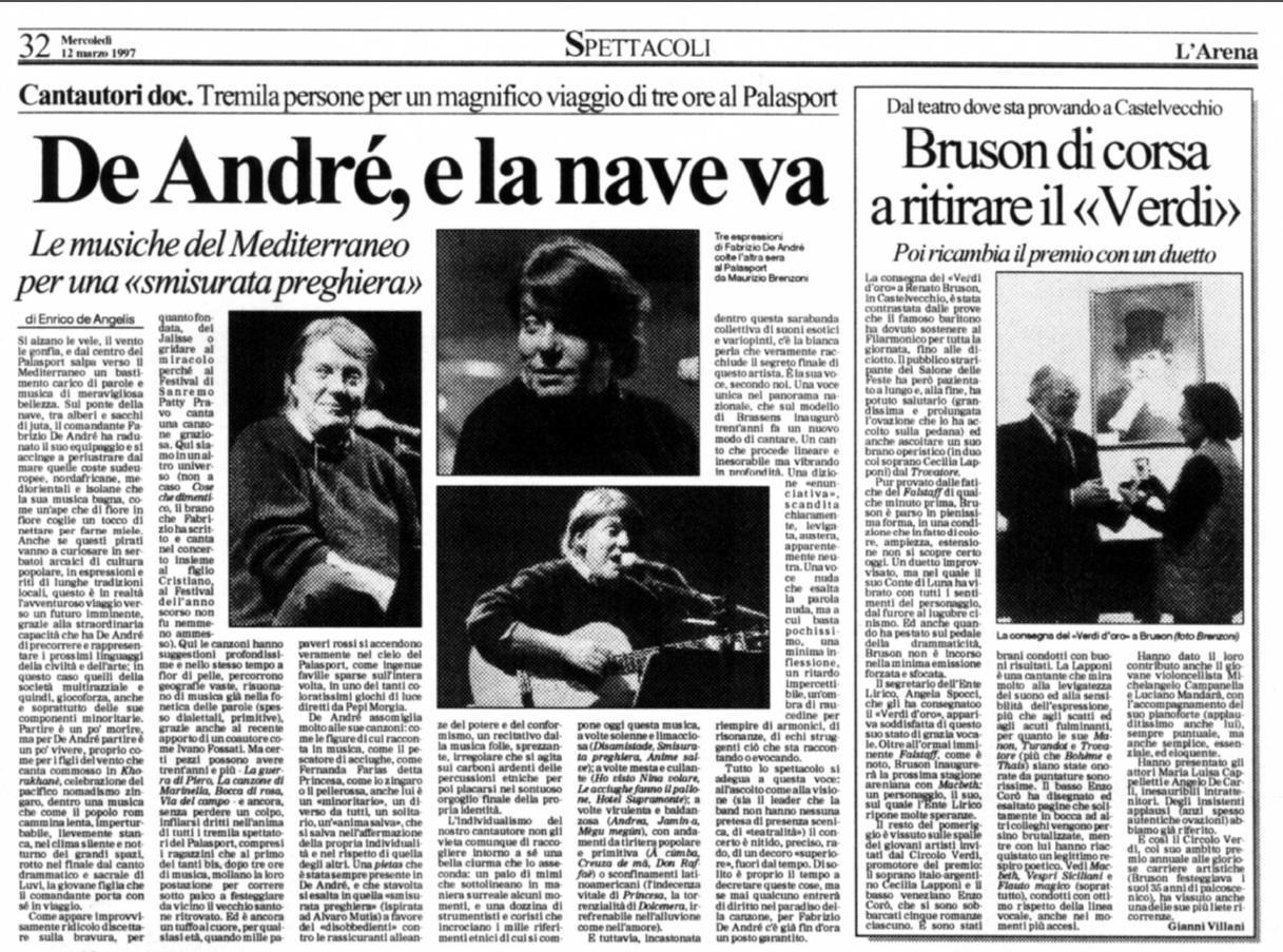 La nostra recensione del suo ultimo concerto a Verona