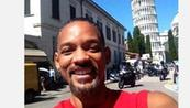 Autoscatto Will Smith con Torre di Pisa