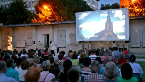 Cinema all'aperto alla tomba di Giulietta