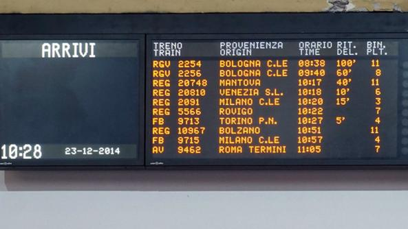 Attentati anti tav a bologna verona treni tornati - Partenze treni verona porta nuova ...