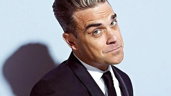 Un'espressione curiosa di Robbie Williams