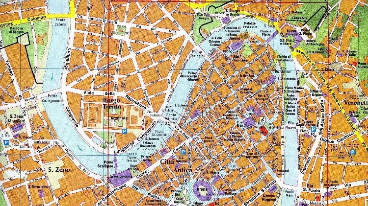 Cartina Verona.Itinerari Per Il Tempo Libero Citta