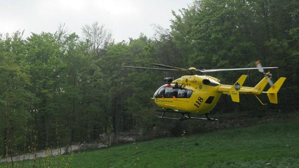 Zaino Elicottero : Bloccato sul baldo in un canale lo salva l elicottero