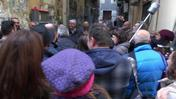 Flash mob in via Pino Daniele a Napoli