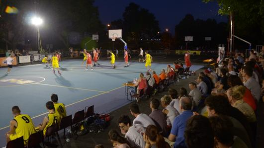 Un match dello Streetball (Perlini)