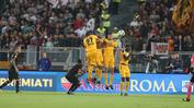 L'Hellas in campo all'Olimpico (Fotoexpress)