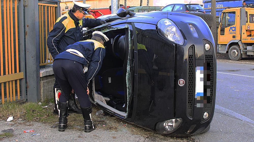 Un recente incidente in via Torricelli