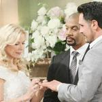 Il matrimonio fra Brooke Logan e Bill Spencer nella soap BeautifulKateryne Kelly Lang in bici