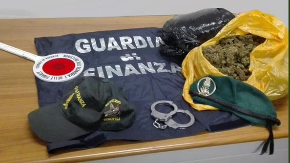 Droga sequestrata dalla Guardia di Finanza