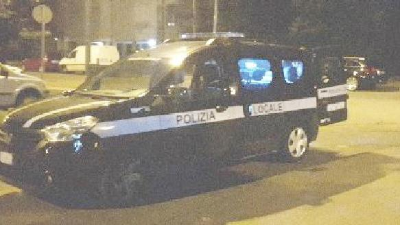 La polizia municipale sul luogo dell'incidente