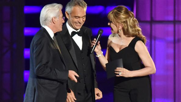 Richard Gere, Andrea Bocelli e Milly Carlucci in Arena