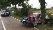 L'incidente di Lonigo (foto Giornale di Vicenza)