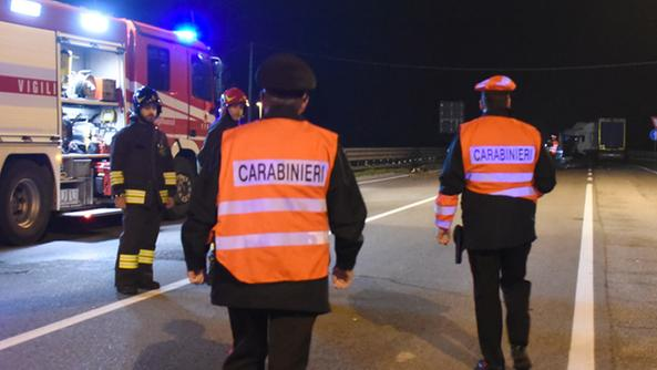 I soccorritori sul luogo dell'incidente
