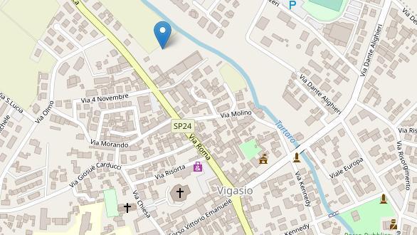 Terremoto a Vigasio (Immagine Openstreet per Ingv)