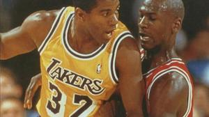 Franco MarcellettiMassimo ZilianiDue miti del basket Nba: Magic Johnson e Michael Jordan