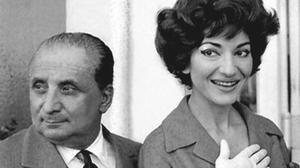 Giovanni Battista Meneghini e Maria Callas