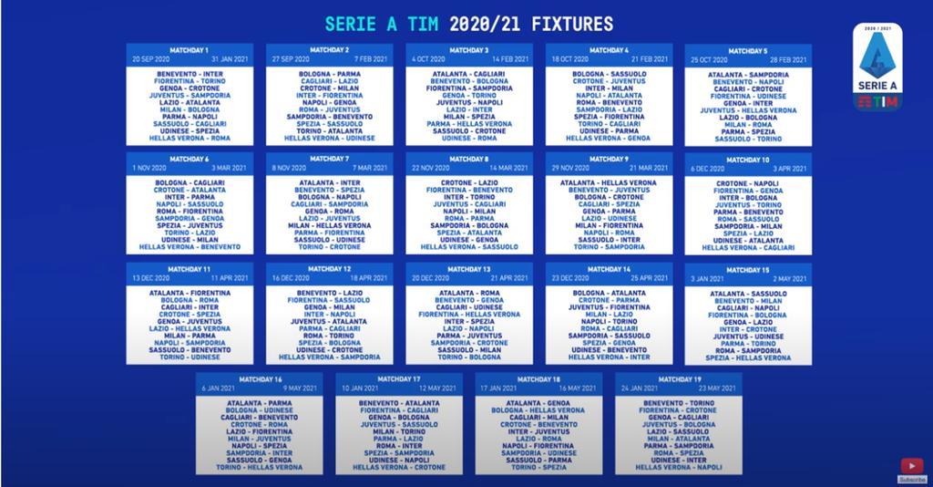 Svelata la Serie A 2020/2021: Hellas, prime due in casa | L'Arena
