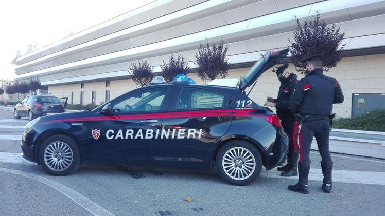 I carabinieri intervenuti all'Adigeo