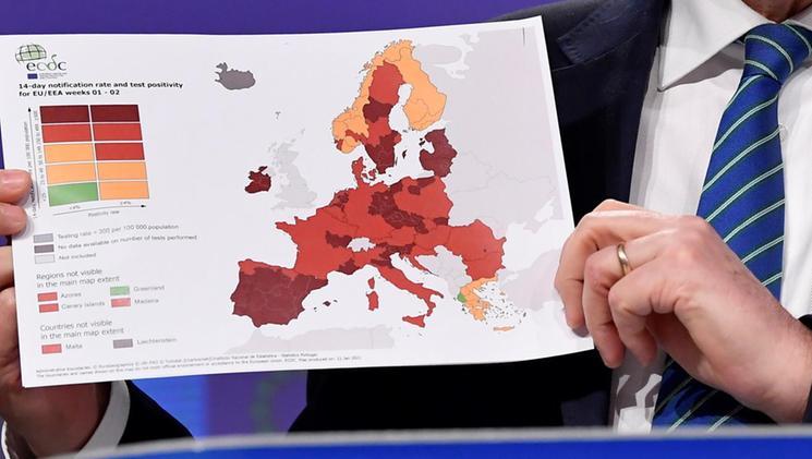Cartina Italia Anno 500.Ue La Mappa Del Contagio In Italia Il Veneto Tra Le Zone Rosso Scuro