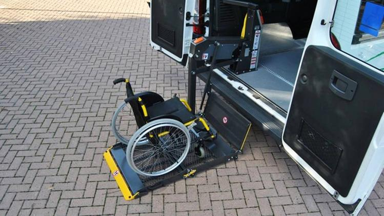 Minibus for transporting the elderly and disabled